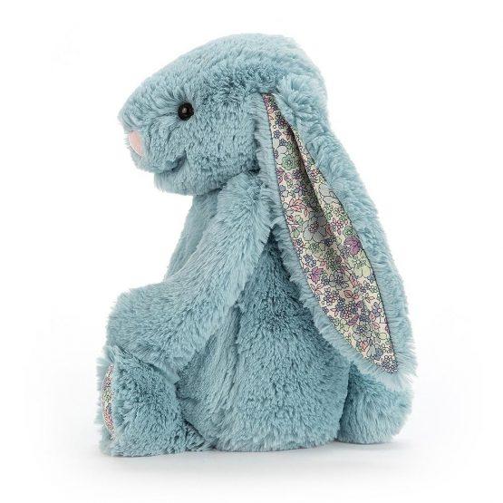 Bashful Aqua Blossom Bunny Medium