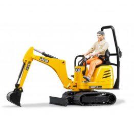 jcb micro excavator 8010 w/construction worker