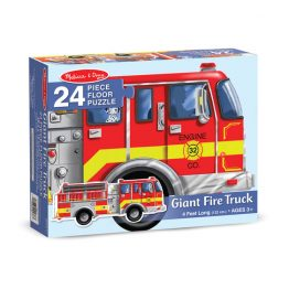 24 Piece Floor Puzzle Giant Fire Truck