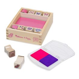 Wooden Stamp Set – Butterflies and Hearts
