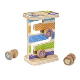 First Play Wooden Safari Zig-Zag Tower With 4 Rolling Pieces