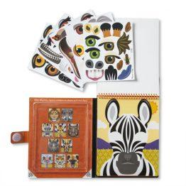 Make-a-Face – Safari Reusable Sticker Pad – On the Go Travel