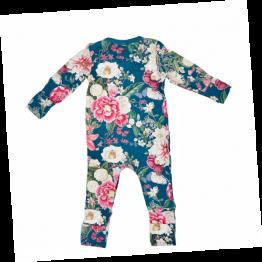Soft & stretchy WINTER GARDEN NAVY zipper jumpsuit