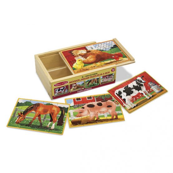 Farm Animals Jigsaw Puzzles in a Box