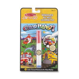 On the Go ColorBlast No-Mess Coloring Pad – Vehicles