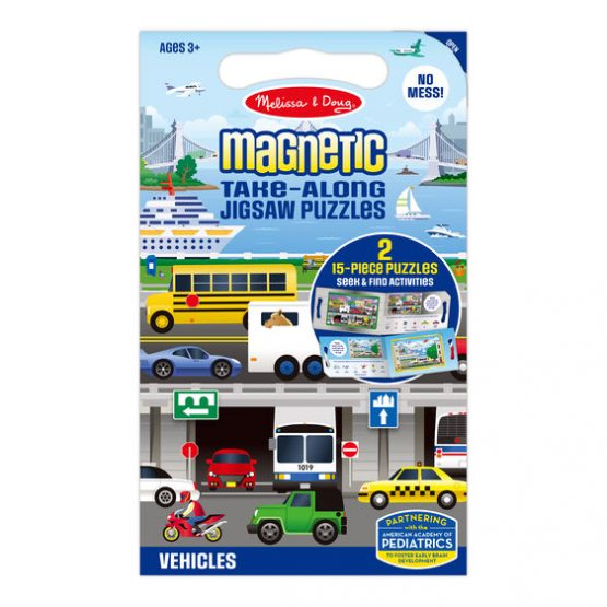 Take Along Magnetic Jigsaw Puzzles – Vehicles
