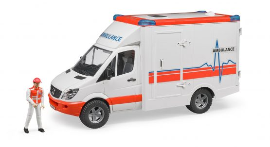 Bruder Mercedes Benz Sprinter ambulance with driver